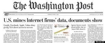 Une du Washington Post consacrée à la NSA